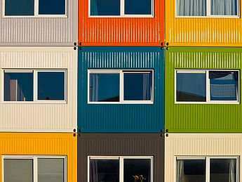 House Divided-Colorful Houses