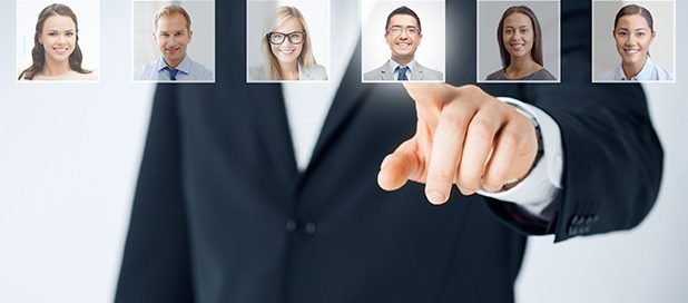 unconscious bias-man selecting man from group