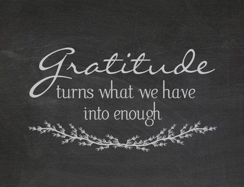 I'm so grateful…